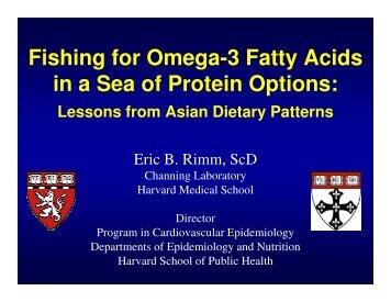 Fishing for Omega-3 Fatty Acids in a Sea of ... - CIAProChef.com