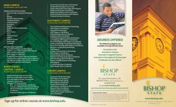 degrees offered - Bishop State Community College