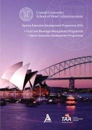 Sydney Executive Development Programme 2014 • Food and ...