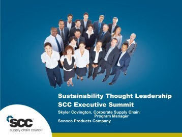 Sustainability Thought Leadership SCC Executive Summit