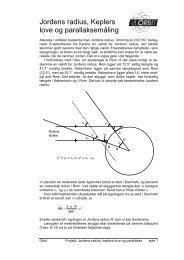 Jordens radius, Keplers love og parallaksemåling