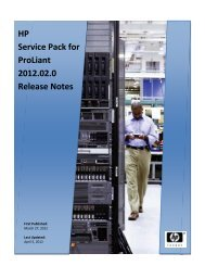 HP Service Pack for Proliant 2012.02.0 ... - FTP - Hewlett Packard