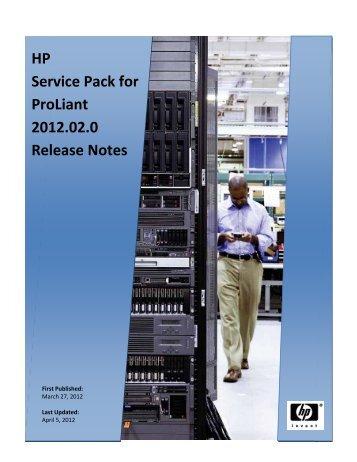 HP Service Pack for Proliant 2012.02.0 ... - FTP - Hewlett Packard