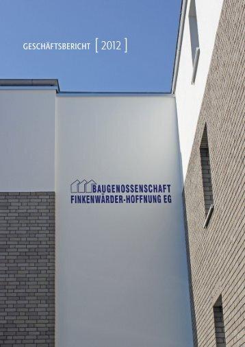 geschäftsbericht - Baugenossenschaft Finkenwärder-Hoffnung eG