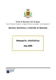 Annuario statistico - Comune di Bassano del Grappa
