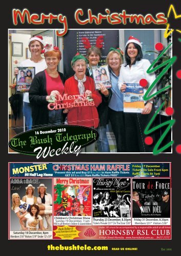 CHRISTMAS HAM RAFFLE MONSTER - The Bush Telegraph Weekly
