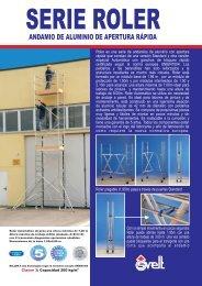 Ficha técnica andamio de aluminio Roler - Logismarket