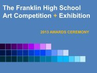 to view the 2013 FHS Art Show Awards.