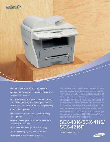 SCX-4016/SCX-4116/ SCX-4216F - Newegg.com
