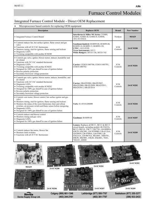 Goodman B18099-13 Furnace Control Circuit Board 1012-933D