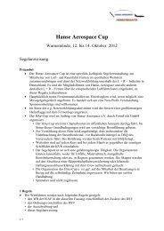 Hanse Aerospace Cup - HANSE AEROSPACE e.V