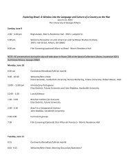 Itinerary - Stone Center for Latin American Studies - Tulane University