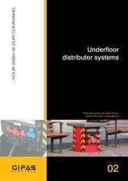 Underfloor distributor systems - MTO electric A/S