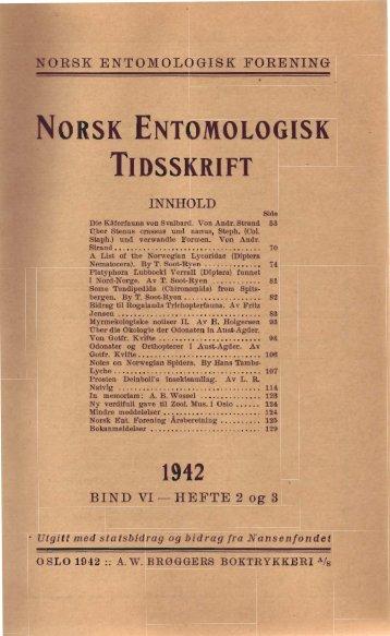 ORSK ENTOMOLOGISK - Norsk entomologisk forening