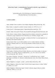 A téma bibliográfiája - PTE Egyetemi Könyvtár