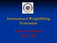 X - International Weightlifting Federation
