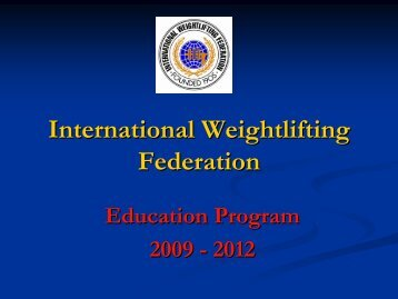 X - International Weightlifting Federation