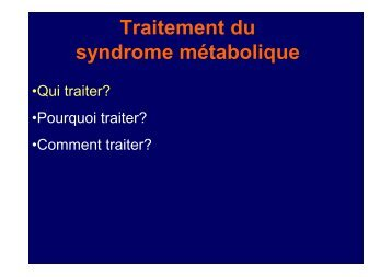 Metabolic syndrome - Cardiologie-francophone