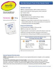 Total daily dose 100 mg Once-Daily Dosing for Proven 24 ... - Januvia