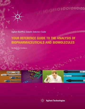 BioHPLC Column Selection Guide Cover - Agilent Technologies