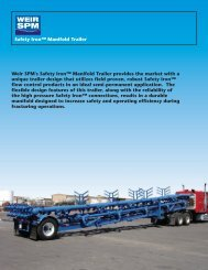 safety iron manifold trailer flyer - front - Weir Oil & Gas Division