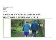 analyse af fortællinger fra modtagere af hjemmehjælp - Social