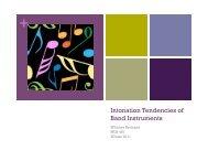 Intonation Tendencies of Band Instruments - Gvsu