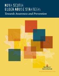 Nova Scotia Elder Abuse Strategy: Towards Awareness and