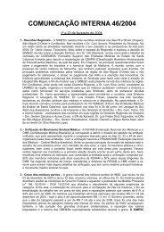 comunicação interna 46/2004 - Sindicato dos Médicos do Estado de ...