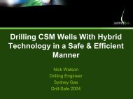 Drilling CSM Wells With Hybrid Technology in a Safe & Efficient ...