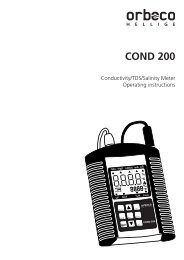 COND 200 Instruction Manual - Orbeco-Hellige
