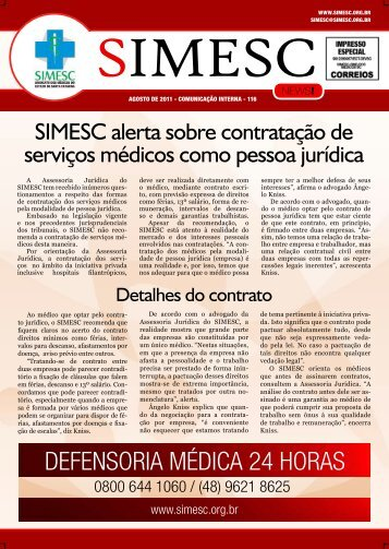 defensoria médica 24 horas - Sindicato dos Médicos do Estado de ...