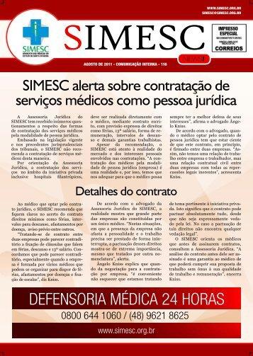 defensoria médica 24 horas - Sindicato dos Médicos do Estado de ...