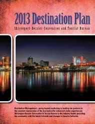 SBCTB Destination Plan 2013 - Shreveport