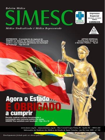 É OBRIGADO - Sindicato dos Médicos do Estado de Santa Catarina