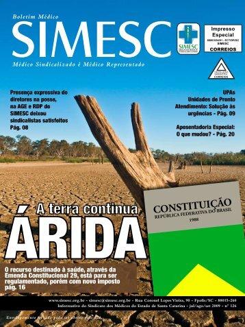 A terra continua - Sindicato dos Médicos do Estado de Santa Catarina