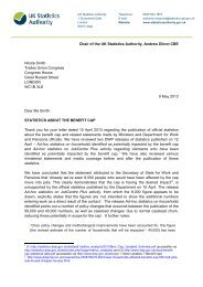 Letter from Andrew Dilnot to Nicola Smith 09052013 - UK Statistics ...
