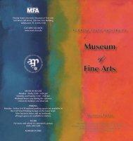 MoFA Brochure - Museum of Fine Arts - Florida State University