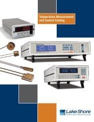Temperature Catalog (.pdf-23 MB) - Lake Shore Cryotronics, Inc.