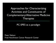 Approaches for Characterizing Activities and Constituents of ...