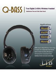 Detailed Specifications - LTB Audio Systems