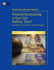 Financial Restructuring in East Asia: Halfway There? - World Bank
