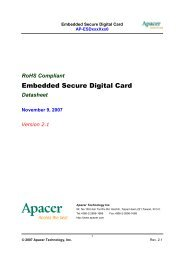 Embedded Secure Digital Card - Apacer