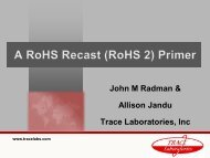 A RoHS-Recast (RoHS 2) Primer - Trace Laboratories
