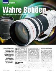 Wissen Objektive Die Konstruktion von Teleobjektiven - ColorFoto