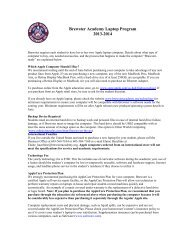 Brewster Academy Laptop Program 2013-2014