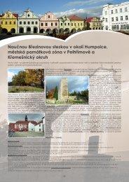 Naučnou Březinovou stezkou v okolí Humpolce, městská ... - Extranet