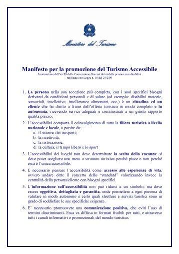 Manifesto per la promozione del Turismo Accessibile - Aci