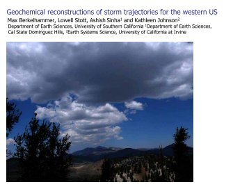storm trajectory and isotopic composition of precipitation modeled ...