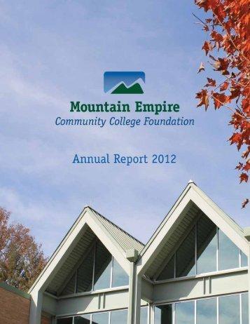 MECC Foundation Donors - Mountain Empire Community College